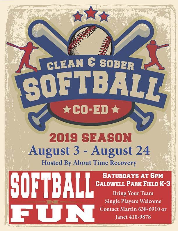 Clean N Sober Softball FUN